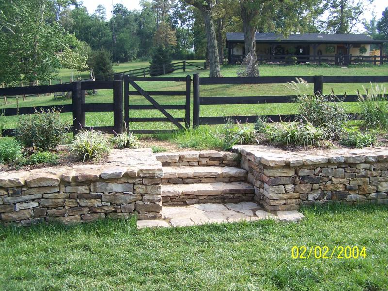 Cortes Landscaping Walkways Dry Stack Wallsstone Wall W